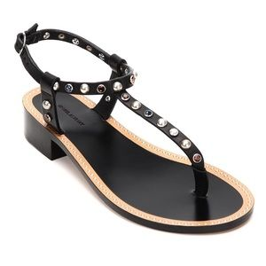 Isabel Marant Aelith Sandal in Black, Size 39
